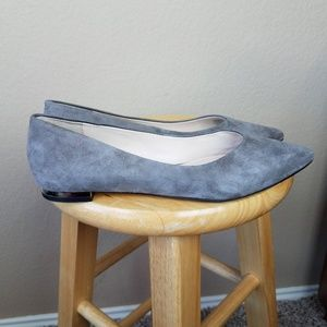 Marc Fisher Ltd Synal Gray Suede Flats sz 7.5